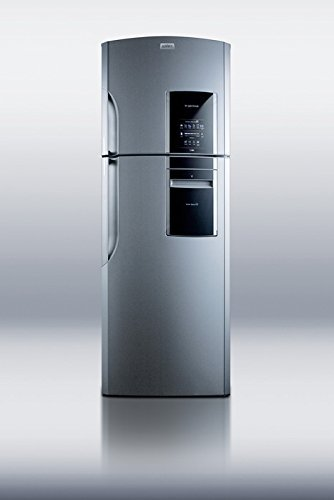Summit Ingenious FF1525PL 14.12 cu. ft. Top Freezer Refrigerator In Platinum