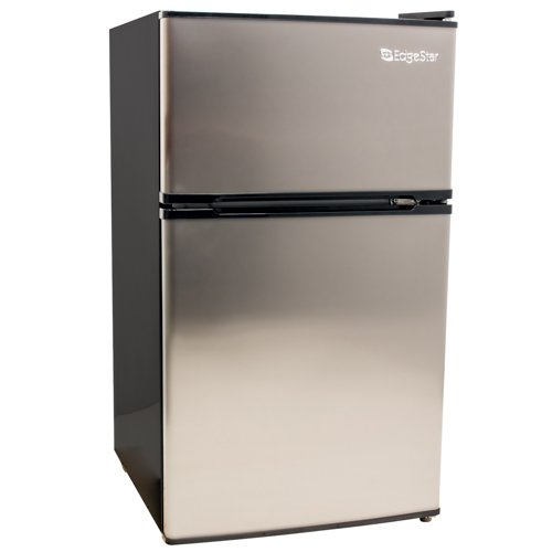 EdgeStar 3.1 Cu. Ft. Energy Star Compact Fridge/Freezer - Stainless Steel