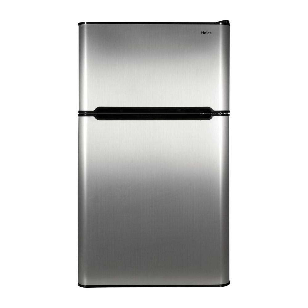 Haier HC31TG42SV 3.2 cu. ft. 2 Door Mini Refrigerator True Freezer Virtual Steel