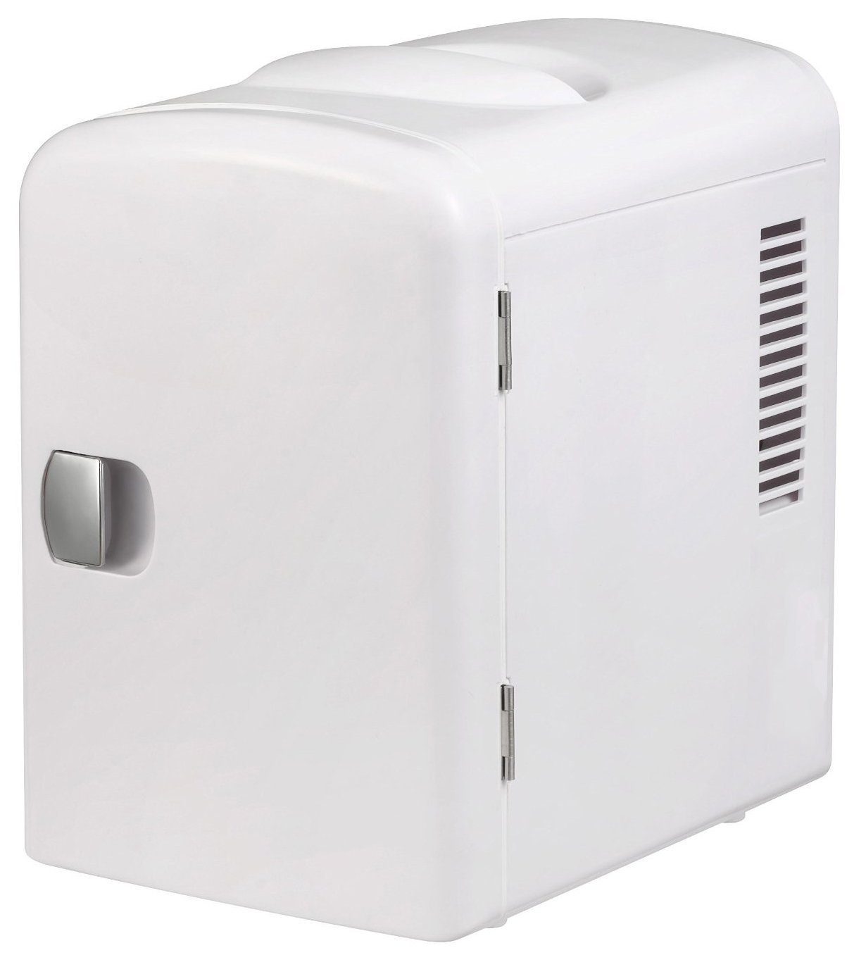 Gourmia GMF600 Portable 6 Can Mini Fridge Cooler and Warmer for Home ,Office, Car or Boat AC & DC (White)
