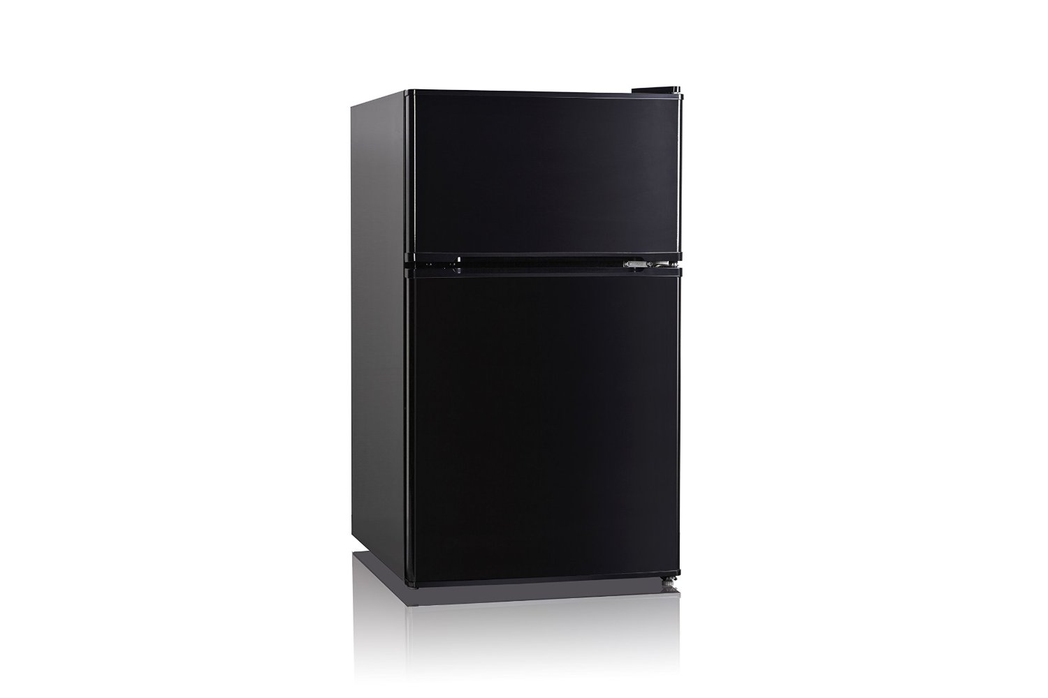 Midea WHD-127FB1 Compact Reversible Double Door Refrigerator and Freezer, 3.5 Cubic Feet, Black