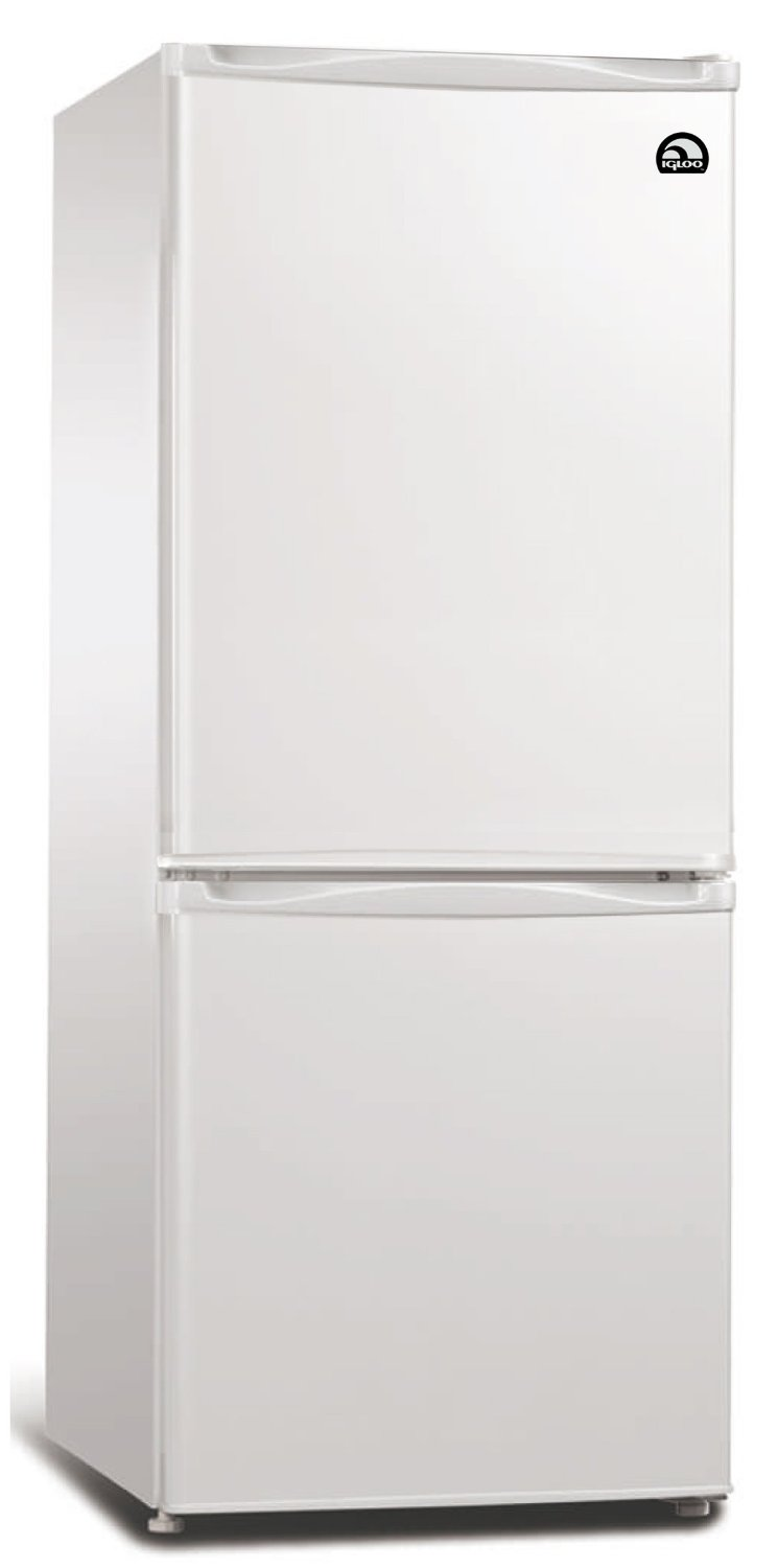 Igloo 9.2 Cubic Foot Fridge with Bottom Mount Freezer, Auto Defrost