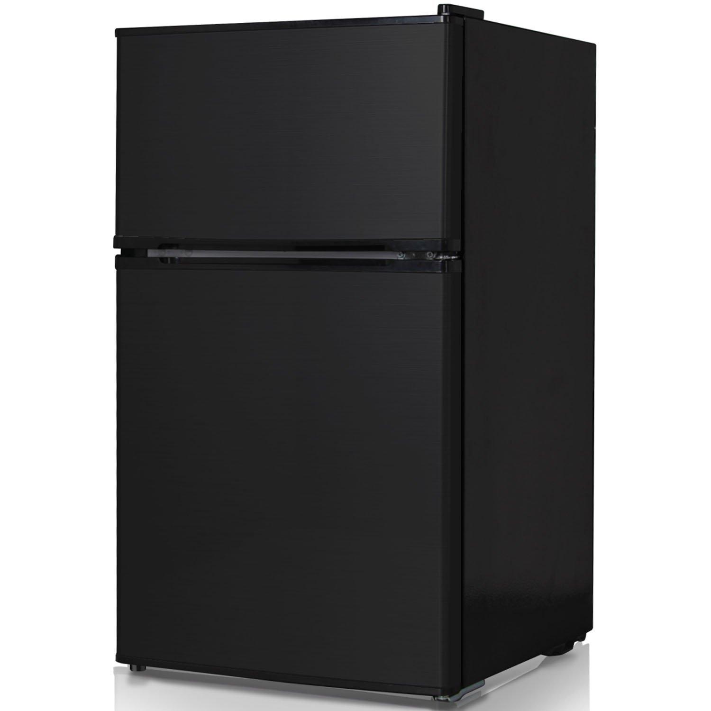 Keystone KSTRC312CB Compact 2-Door Refrigerator/Freezer, 3.1 Cubic Feet, Black