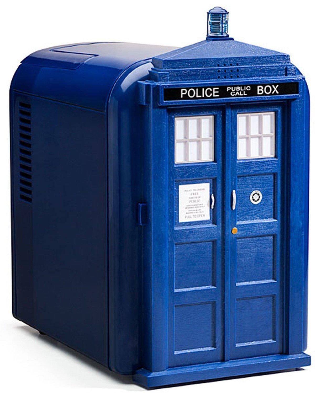 Doctor Who Plastic TARDIS Mini Fridge (Blue)