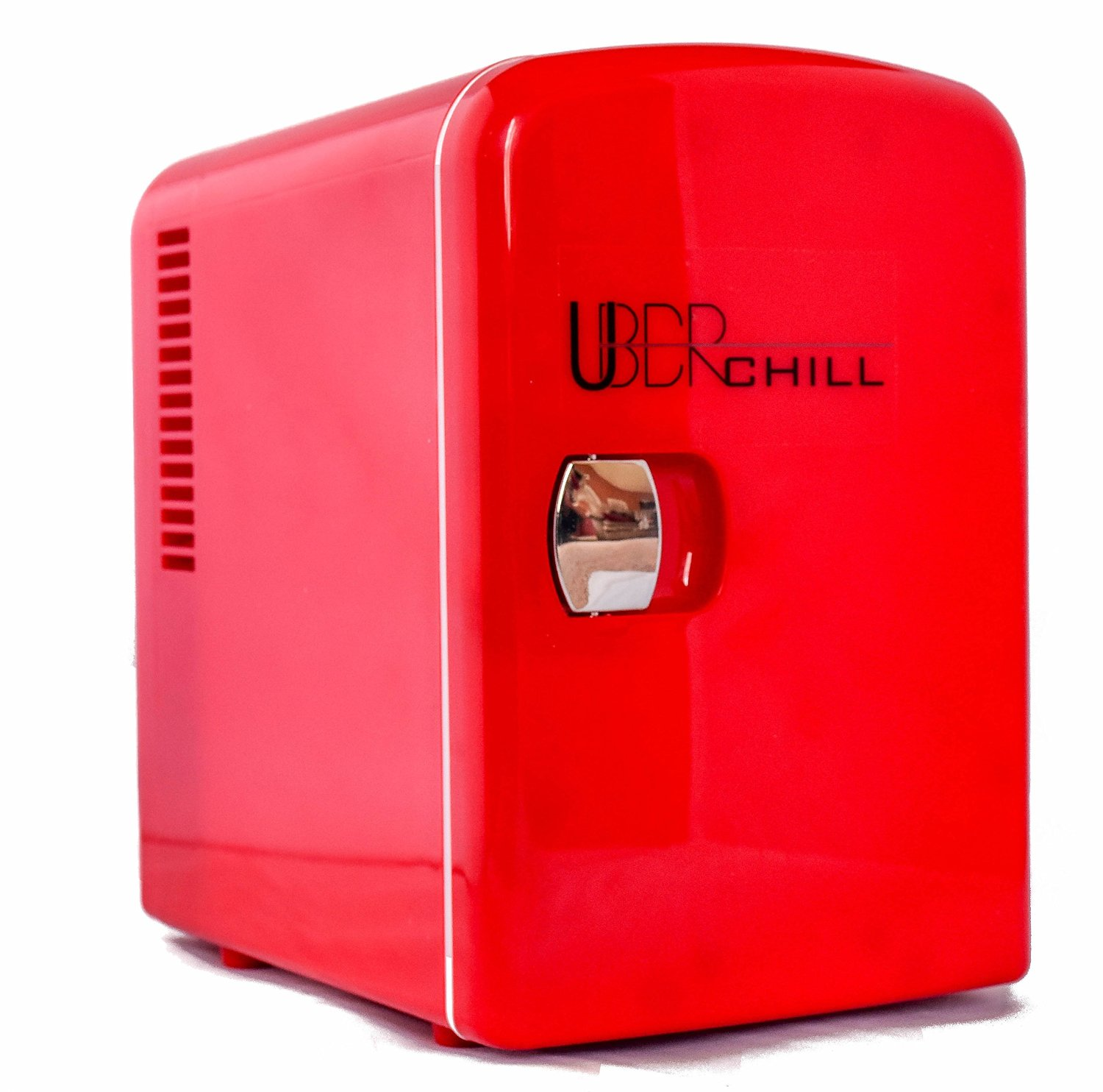 Uber Appliance UB-CH1 Uber Chill 6 can retro personal mini fridge for bedroom, office or dorm