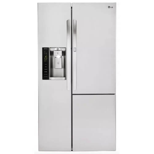 LG LSXS26366S 35-Inch Side by Side 26 Cubic Feet Freestanding Refrigerator, Stainless Steel