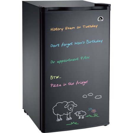 Igloo 3.2 cu. ft. Eraser Board, Flush-Back Design Mini Refrigerator, Model: FR326M-C-Black