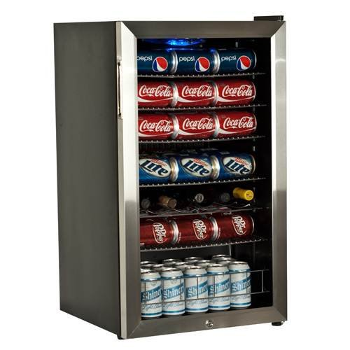 EdgeStar BWC120SSLT 103 Can and 5 Bottle Freestanding Ultra Low Temp Beverage Cooler