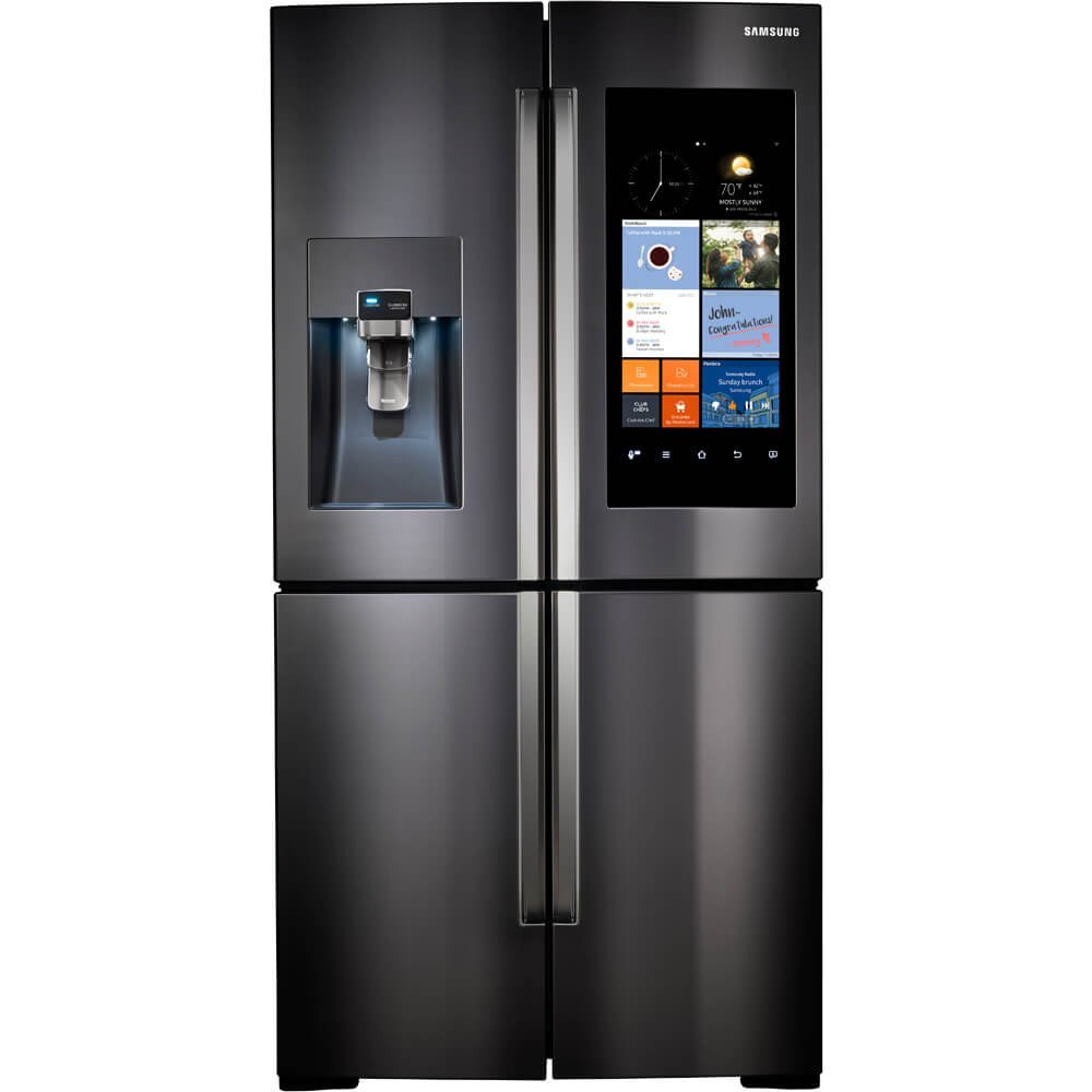 Samsung RF22K9581SG / RF22K9581SG/AA / RF22K9581SG/AA RF22K9581SG 22 Cu. Ft. Black Stainless 4 Door Family Hub Counter Depth Refrigerator