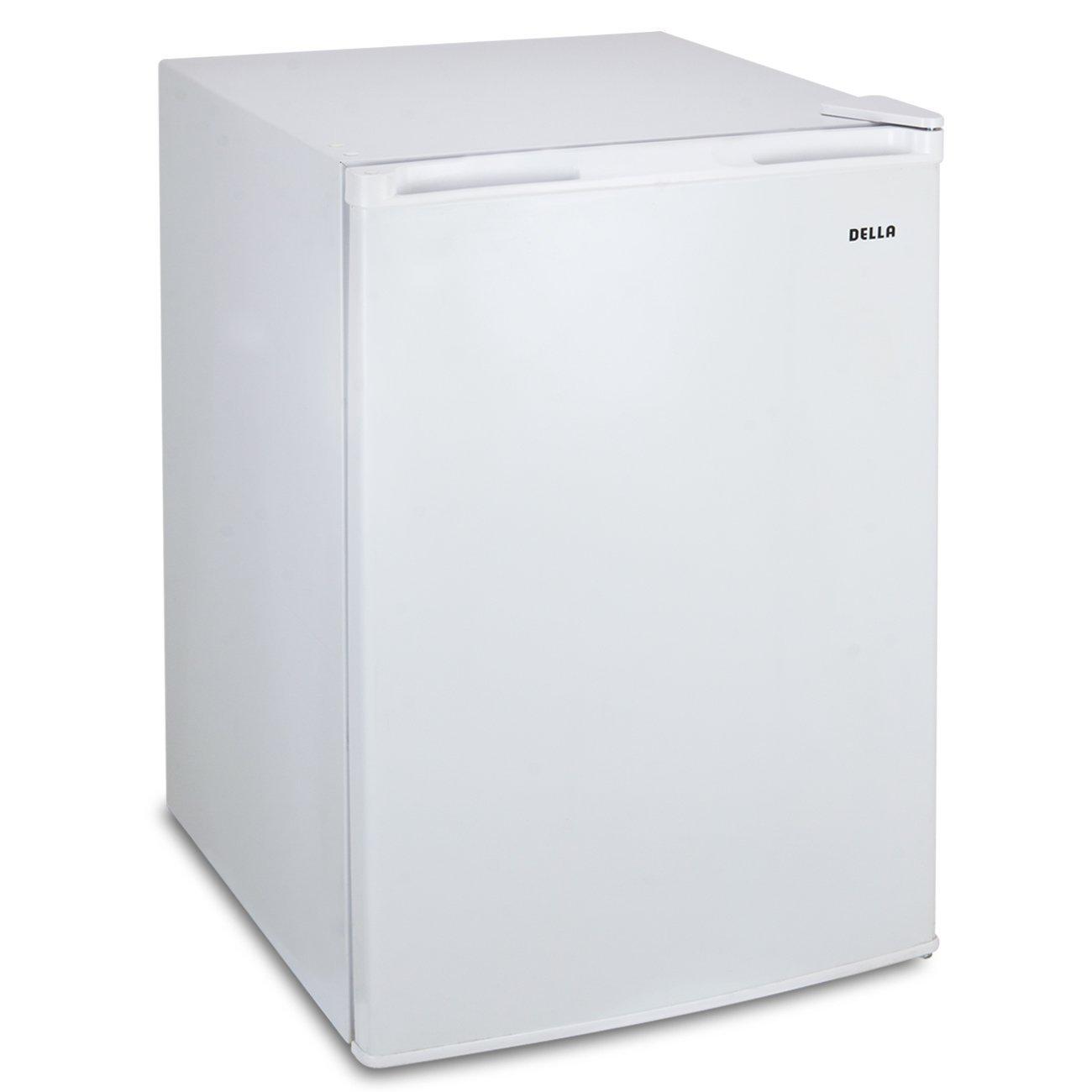 Della 4.5 cu. ft Single Reversible Door, Fridge Refrigerator Freezer Ice, White