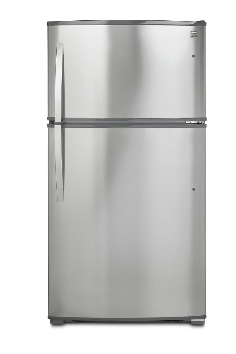 Kenmore 71215 21 cu. ft. Top-Freezer Refrigerator with Ice Maker and LED Lighting in Stainless Steel with Active Finish, includes delivery and hookup (Available in select cities only)