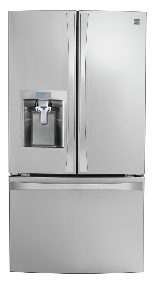 Kenmore Smart 75043 24 cu. ft. French Door Bottom-Mount Refrigerator in Stainless Steel - Compatible with Amazon Alexa, includes delivery and hookup (Available in select cities only)