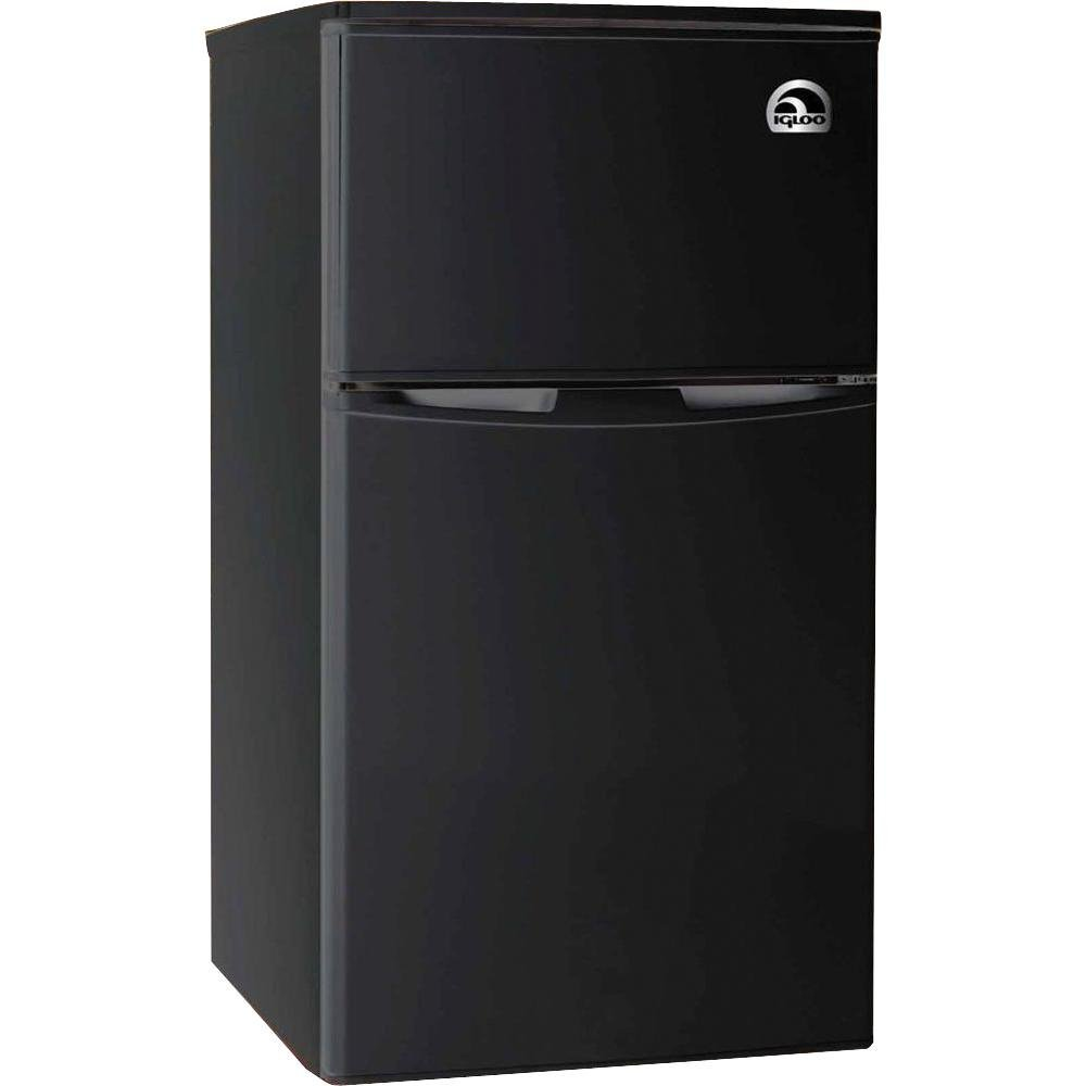 Igloo FR832-BLACK 3.2 cu. ft. 2 Door Fridge with Freezer, Black