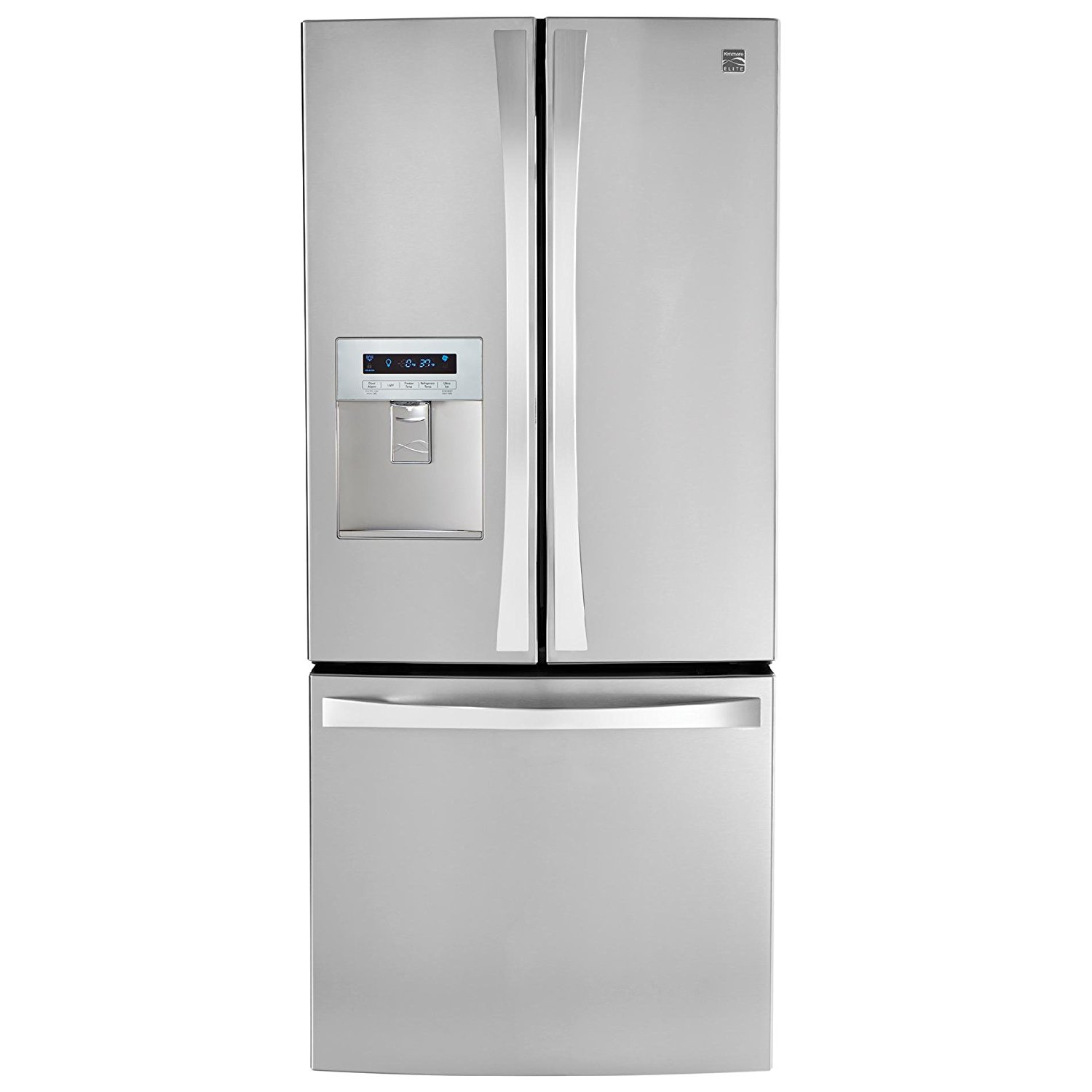 Kenmore Elite 71323 21.8 cu. ft. Wide French Door Bottom Freezer Refrigerator with Dispenser in Stainless Steel, includes delivery and hookup (Available in select cities only)