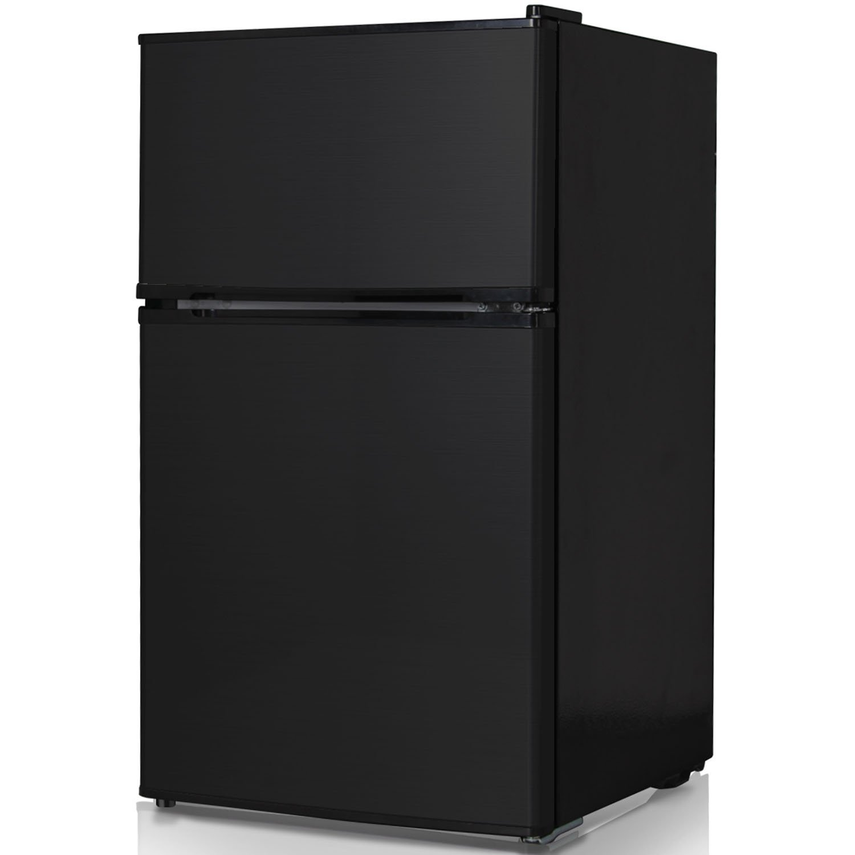 Keystone KSTRC312CB Compact 2-Door Refrigerator/Freezer, 3.1 Cubic Feet, Black: Appliances