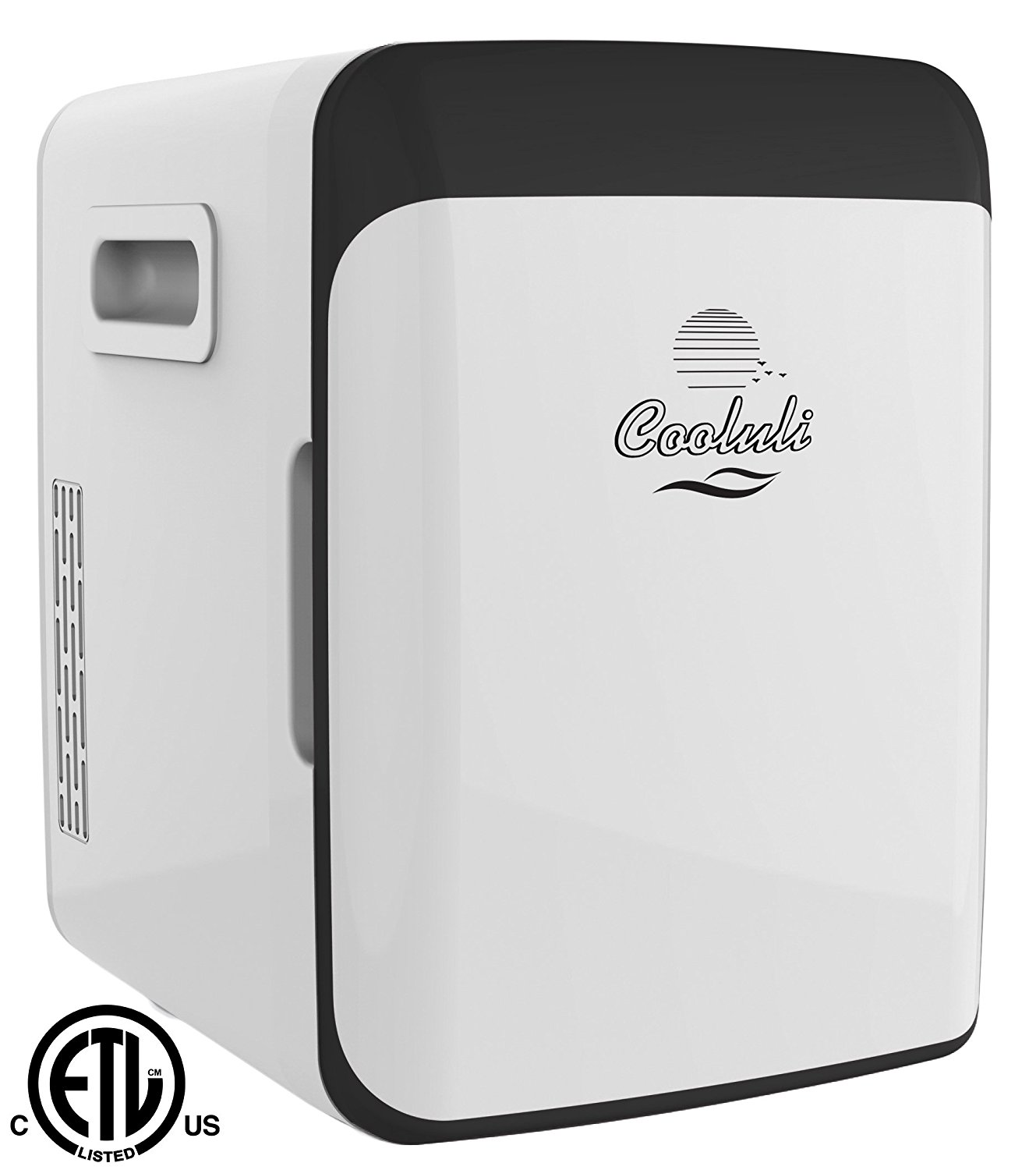 Cooluli Electric Cooler and Warmer (10 Liter / 12 Can): AC/DC Portable Thermoelectric System (White)