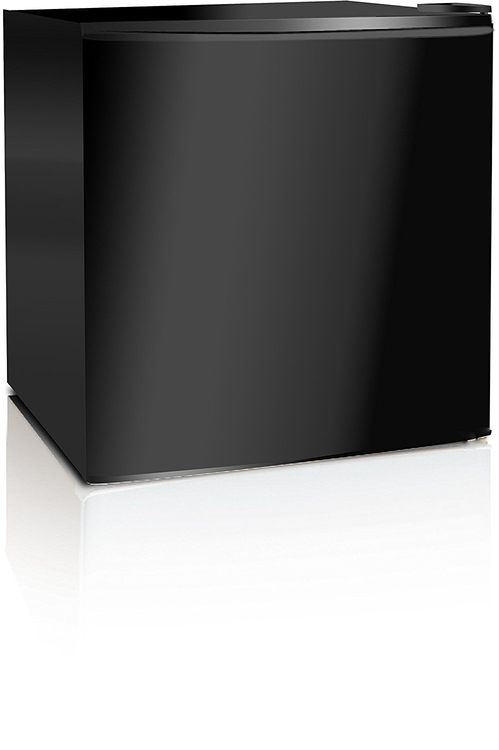 Midea WHS-65LB1 Compact Single Reversible Door Refrigerator, 1.6 Cubic Feet (0.045 Cubic Meter), Black