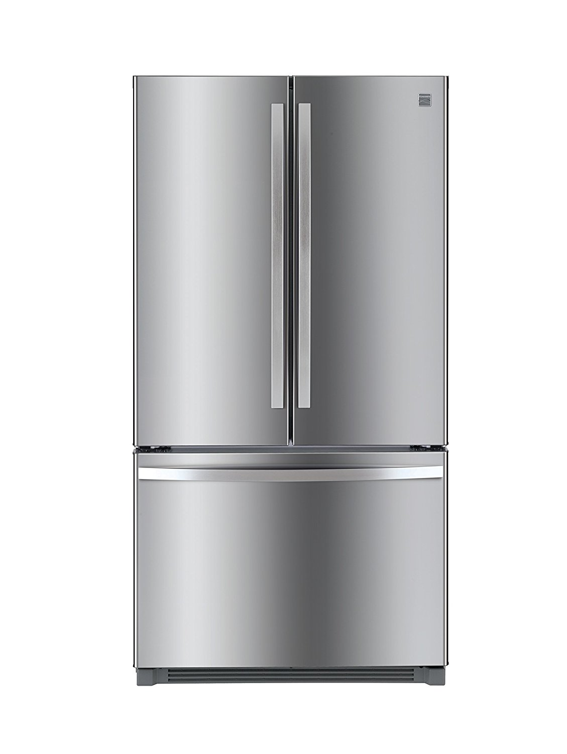 Kenmore 73025 26.1 cu. ft. Non-Dispense French Door Refrigerator in Stainless Steel with Active Finish, includes delivery and hookup (Available in select cities only)