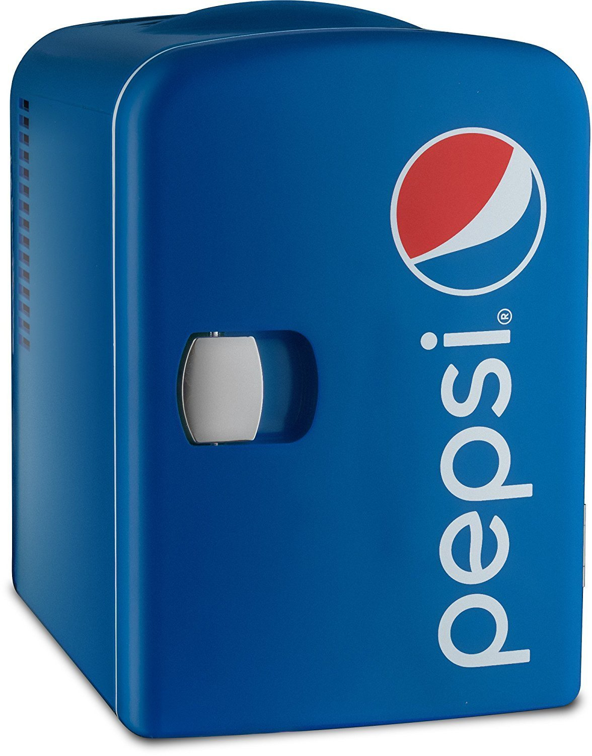 Pepsi GMF660 Portable 6 Can Mini Fridge Cooler and Warmer for Home, Office, Car or Boat AC & DC - Blue - 110V