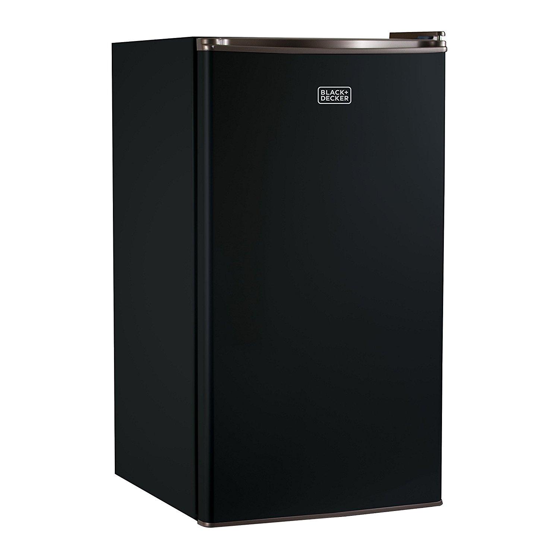 BLACK+DECKER BCRK32B Compact Refrigerator Energy Star Single Door Mini Fridge with Freezer, 3.2 Cubic Ft., Black