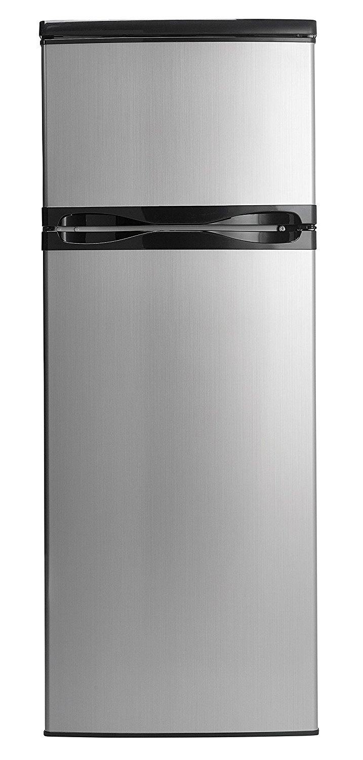 Danby DPF073C1BSLDD Designer 7.3 cu. ft. Two Door Apartment Size Refrigerator, Steel