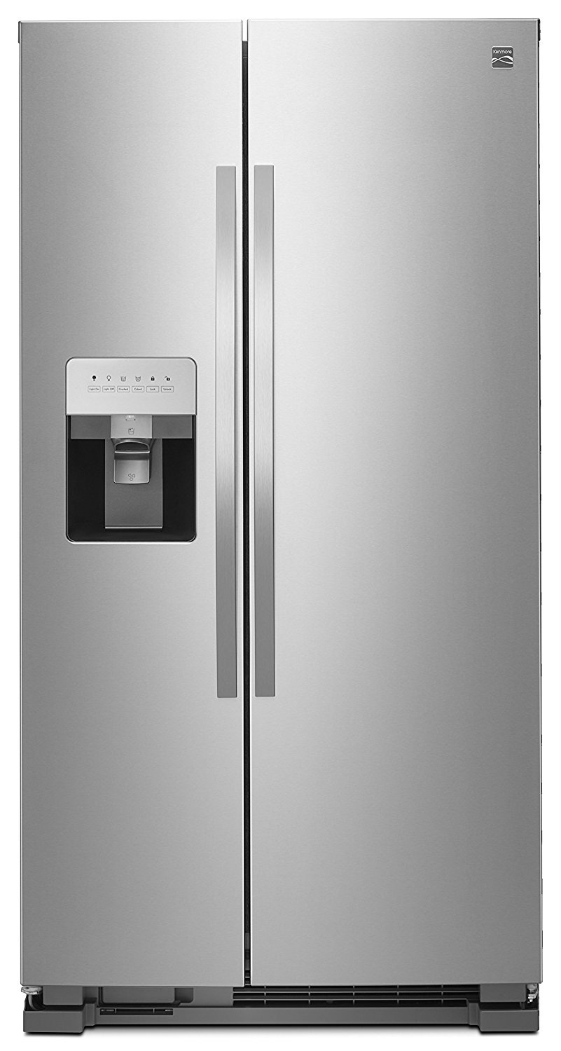 Kenmore 50043 25 Cu. Ft. Side-by-Side Refrigerator with Water and Ice Dispenser, Stainless Steel, includes delivery and hookup (Available in select cities only)