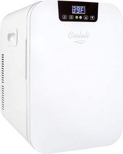 Cooluli Concord White 20 Liter Compact Cooler Warmer Mini Fridge for Bedroom
