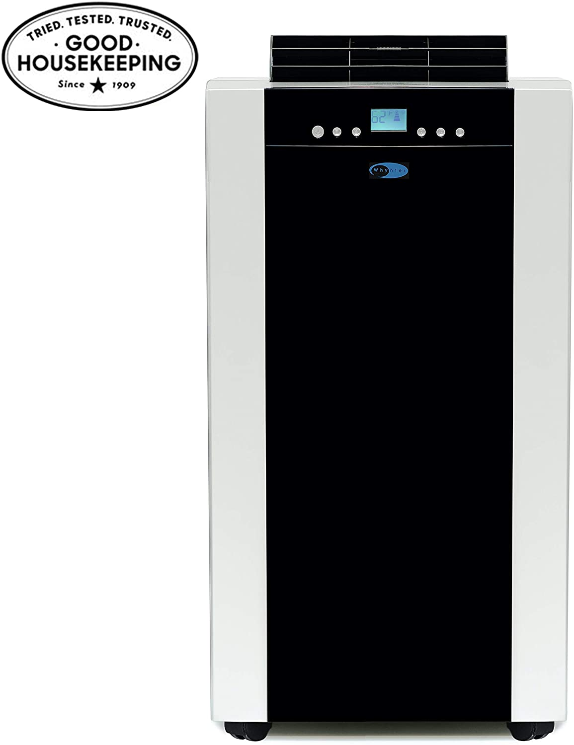 Whynter ARC-14S 14,000 BTU Dual Hose Portable Air Conditioner, Dehumidifier, Fan with Activated Carbon Filter plus Storage bag for Rooms up to 500 sq ft